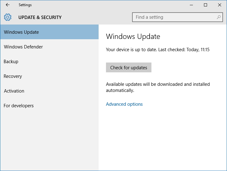 Windows defender latest definition updates for Window defender update