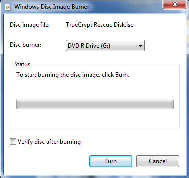 Burn ISO on Windows 7 - Step 2