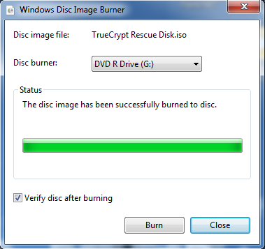 Burn ISO on Windows 7 - Step 3