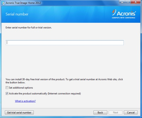 acronis true image serial number