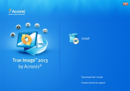 Install Acronis True Image 2013  - Step 1