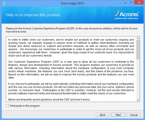 Install Acronis True Image 2013 - Step 3