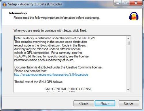 скачать и установить бесплатно audacity 1.3.5.beta