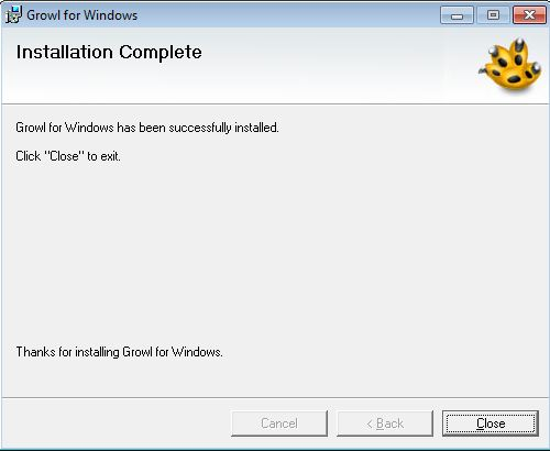 Install Growl - Step 4