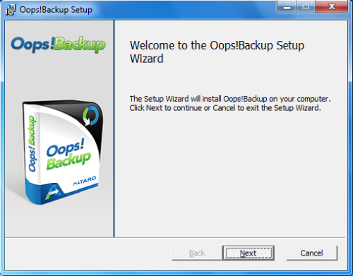 Install Oops - Step 1