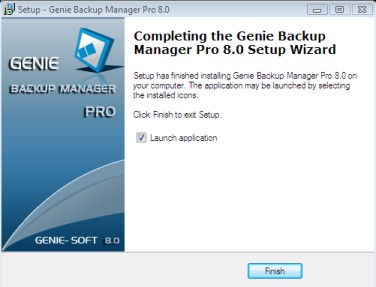 Genie Backup Manager installation - step 8