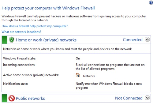 Windows 7 Firewall