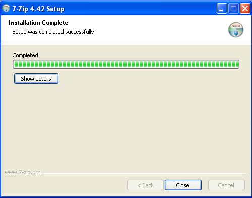 Install 7zip - Step 2