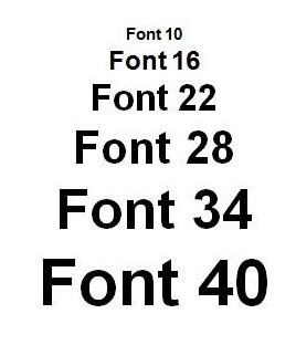 Dissertation font size and style