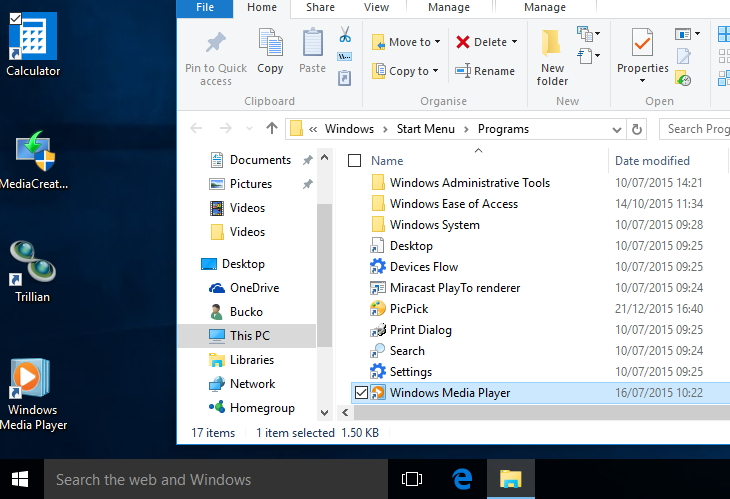 how to delete desktop shortcuts windows 10