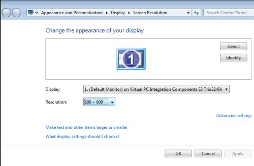 Changing Screen Resolution in Windows Vista - Step 2