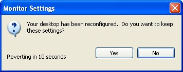 Changing screen resolution in Windows XP - Step 3