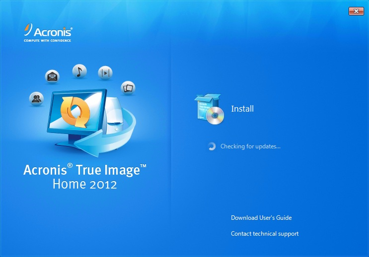 Install Acronis True Image 2012  - Step 1