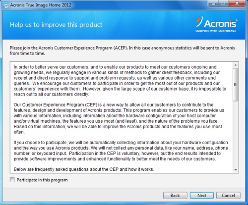 Install Acronis True Image 2012 - Step 3
