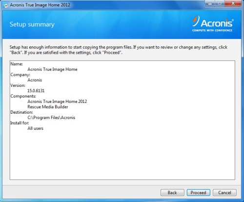 Install Acronis True Image 2012 - Step 5