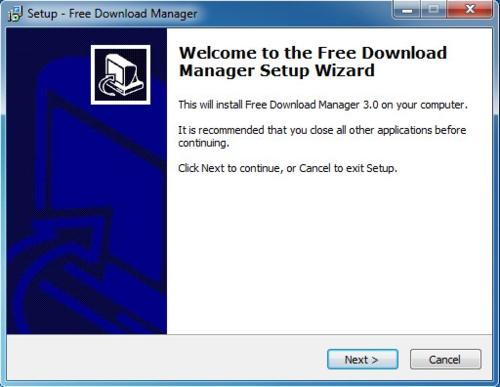 Install Free Download Manager - Step 1