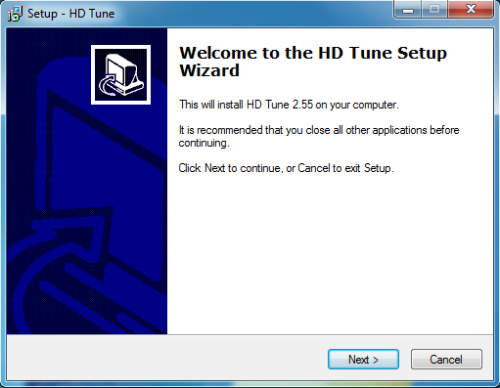 Install HD Tune - Step 1
