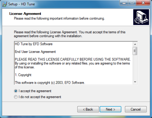 Install HD Tune - Step 2