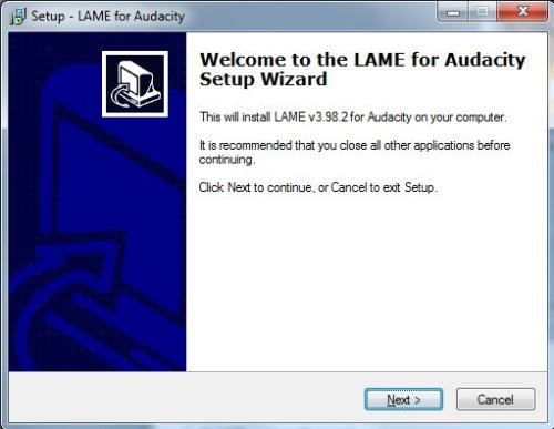 Install LAME - Step 1