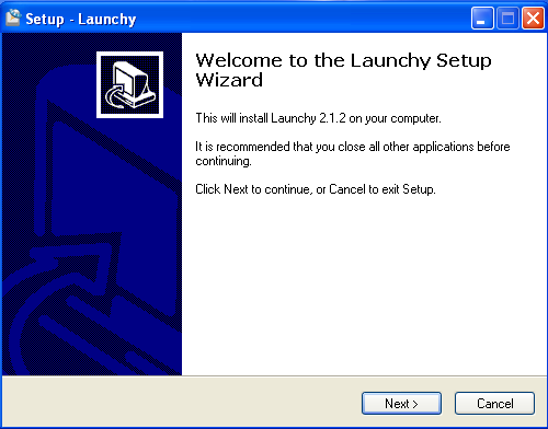 Install Launchy - Step 1