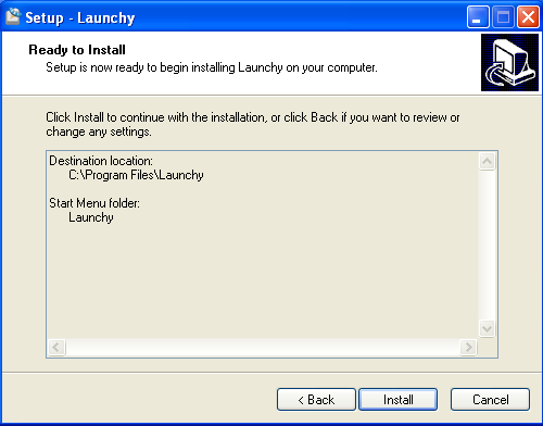 Install Launchy - Step 6
