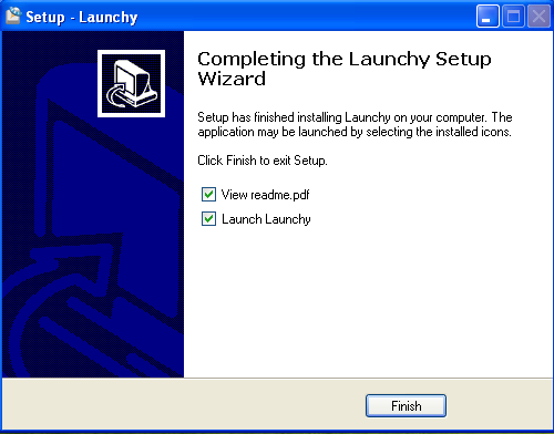 Install Launchy - Step 7