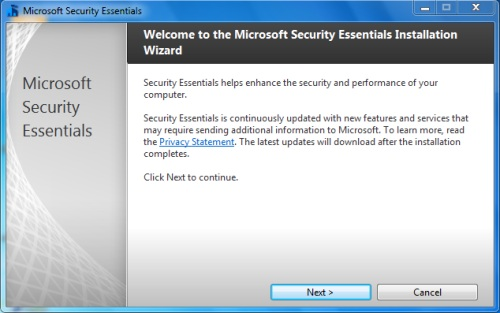 Install Security Essentials - Step 1