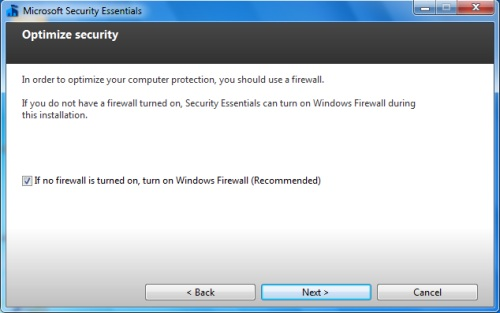 Install Security Essentials - Step 4