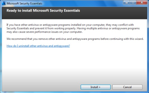 Install Security Essentials - Step 5