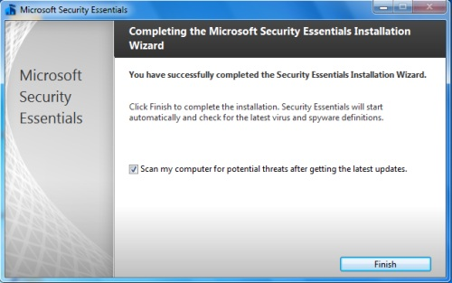 Install Security Essentials - Step 6