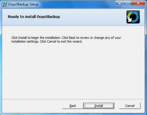 Install Oops - Step 4