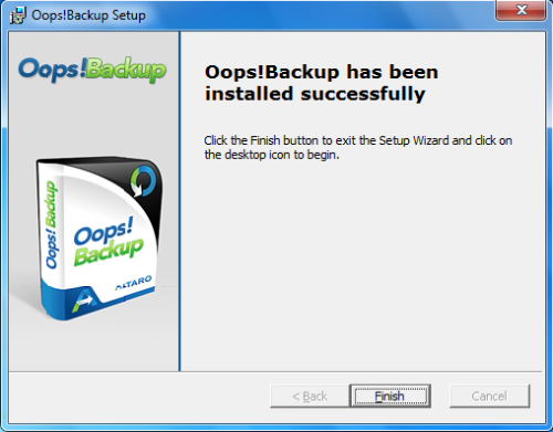Install Oops - Step 6