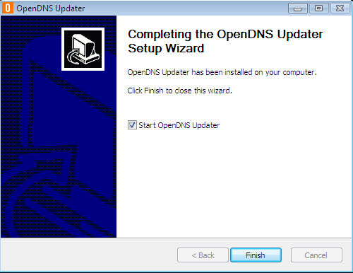 Install OpenDNS Updater step 2
