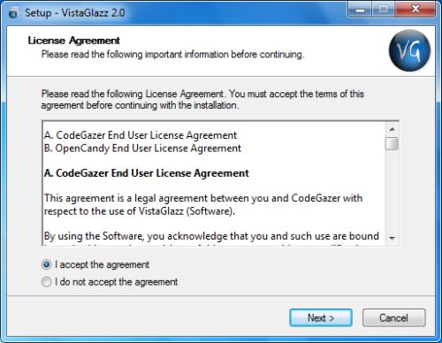 Install VistaGlazz - Step 2