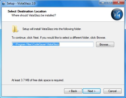 Install Yahoo VistaGlazz - Step 3