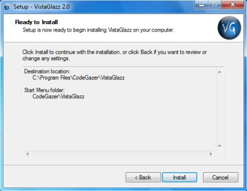 Install VistaGlazz - Step 5