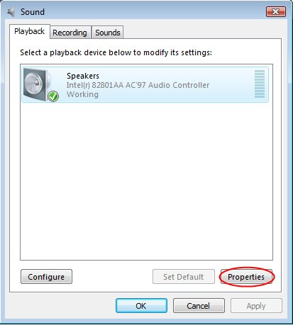 Enable line in playback in Vista - Step 2