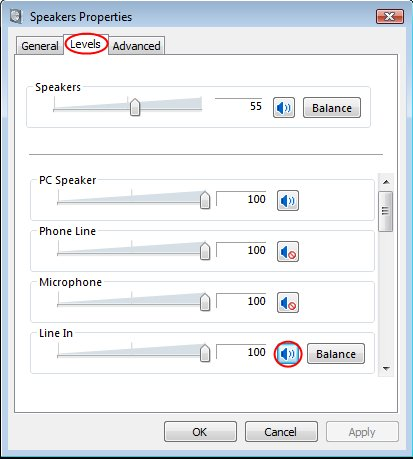 Enable line in playback in Vista - Step 3
