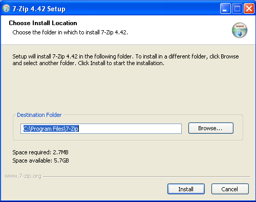 Install 7zip - Step 1