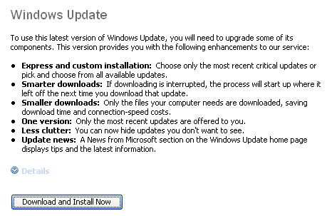 Updating Windows Update